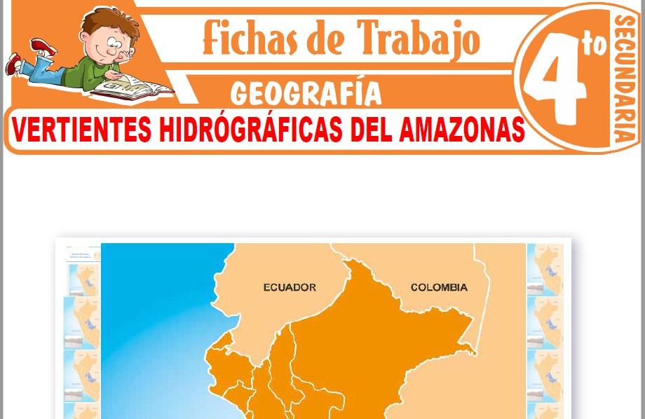 Modelos de la Ficha de Vertientes hidrógráficas del amazonas para Cuarto de Secundaria