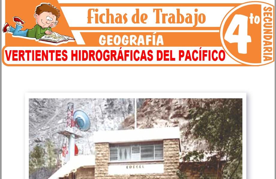 Modelos de la Ficha de Vertientes hidrográficas del pacífico para Cuarto de Secundaria