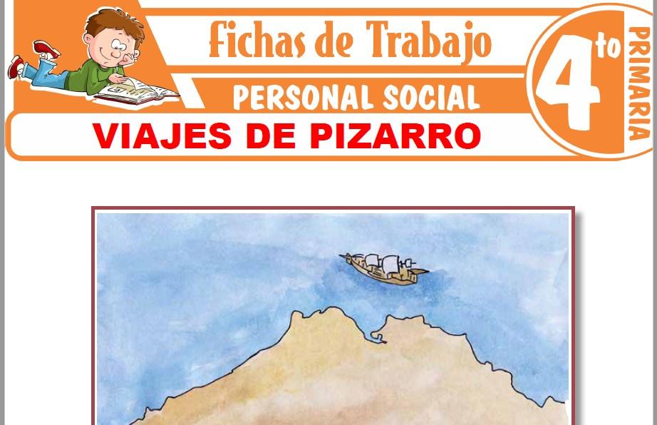 Modelos de la Ficha de Viajes de Pizarro para Cuarto de Primaria