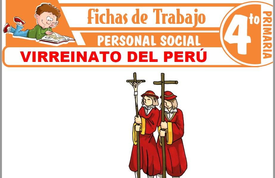 Modelos de la Ficha de Virreinato del Perú para Cuarto de Primaria