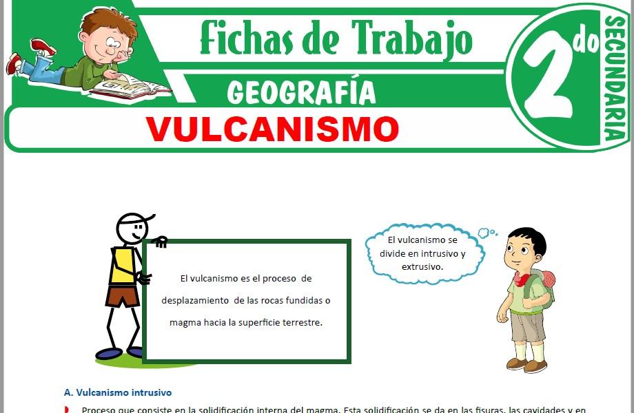 Modelos de la Ficha de Vulcanismo para Segundo de Secundaria