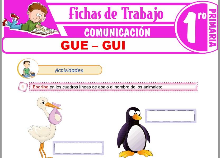 Modelos de la Ficha de GUE – GUI para Primero de Primaria