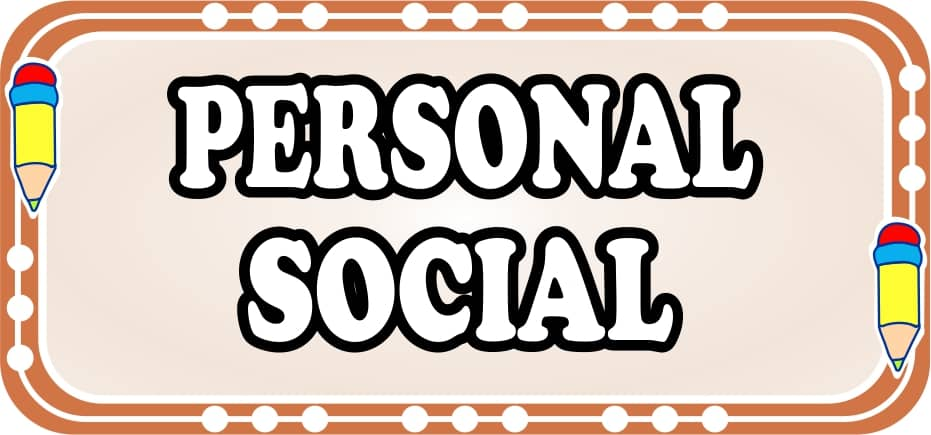 Personal social para niños de primaria - fichas de trabajo